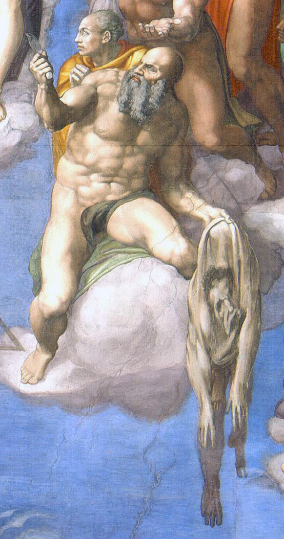 1536–1541, Fresko, 1370 cm x 1220 cm, Rom/Vatikan, Sixtinische Kapelle.<br>