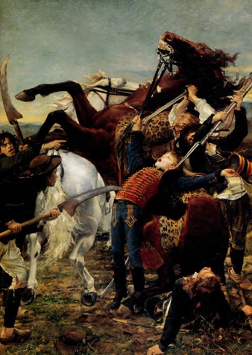 "1880, Öl auf Leinwand, 350 cm x 250 cm, Paris, Musée d'Orsay, Inv.-Nr. RF 570. <br>Quelle: <a href=""https://commons.wikimedia.org/wiki/File:Mort_de_Bara_-_Jean-Joseph_Weerts.jpg"">User:Khaerr~commonswiki / Wikimedia Commons</a><br>Lizenz: Gemeinfrei"