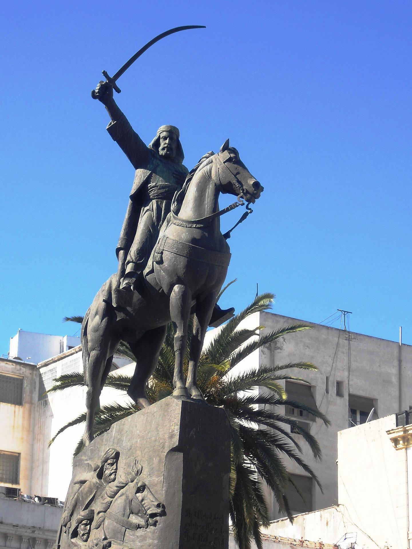 Reiterstandbild Abd al-Qadirs, Algier, Algerien.