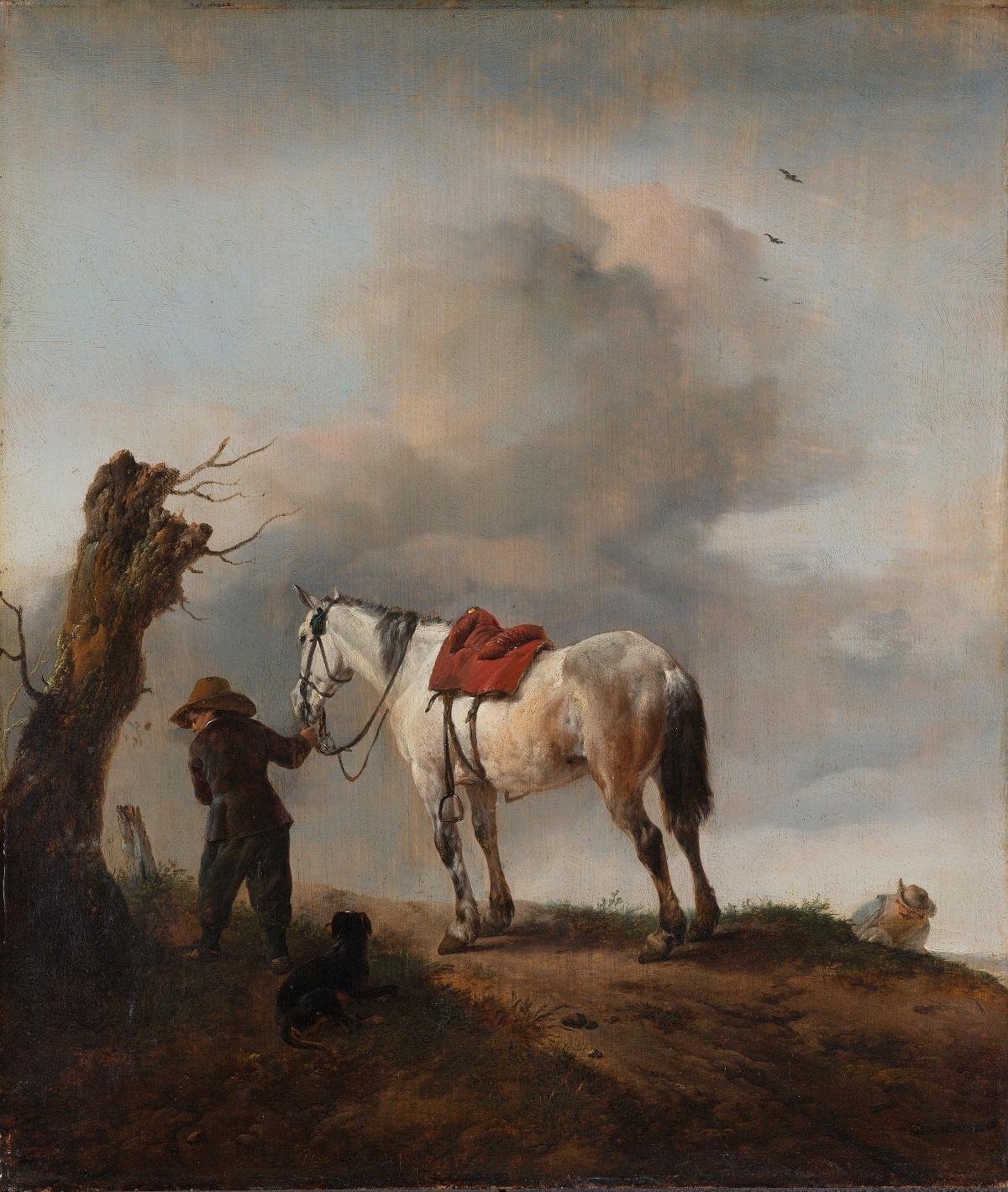 "1646, Öl auf Leinwand, 43,5 cm x 38 cm, Amsterdam, Rijksmuseum, Inv.-Nr. SK-A-1610.<br> Quelle: <a href=""https://commons.wikimedia.org/wiki/File:De_schimmel_Rijksmuseum_SK-A-1610.jpeg"">User:Pimbrils / Wikimedia Commons</a> <br>Lizenz: Public Domain"