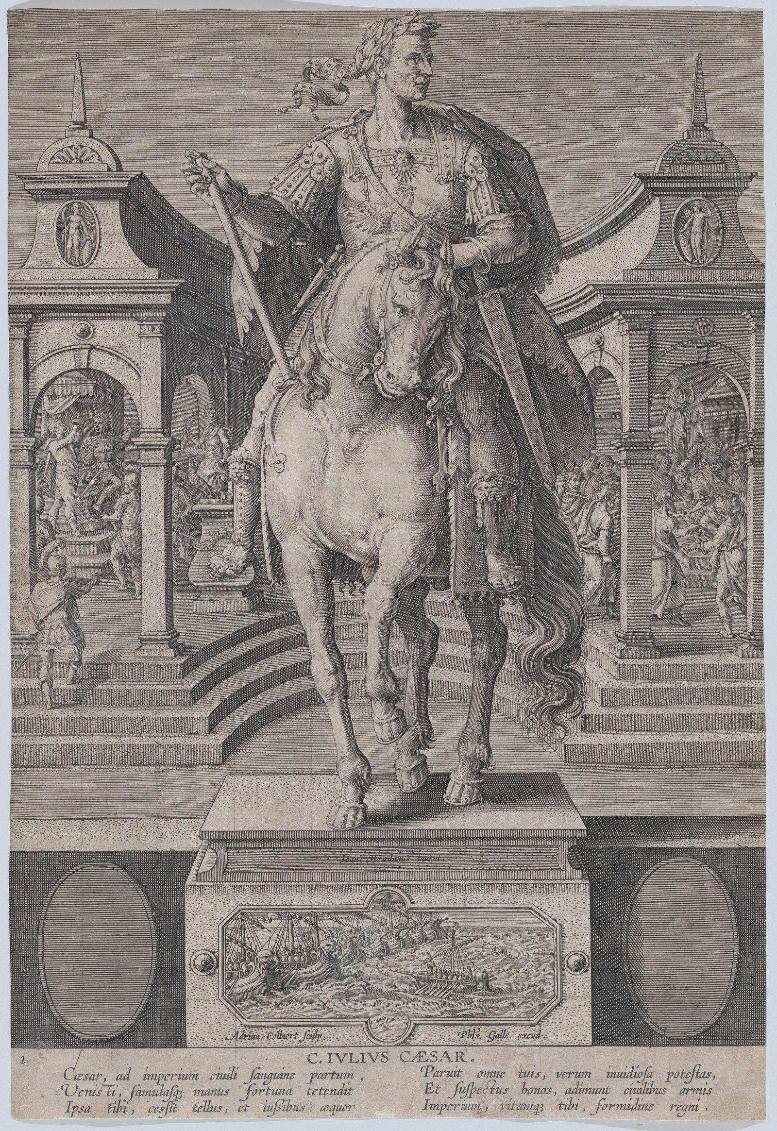 "ca. 1587–1589, Kupferstich, 32 × 21,8 cm, New York, Metropolitan Museum of Art, Inv.-Nr. 49.95.1002(1).<br> Quelle: <a href=""https://www.metmuseum.org/art/collection/search/762294"">Metropolitan Museum of Art</a><br> Lizenz: Public Domain"