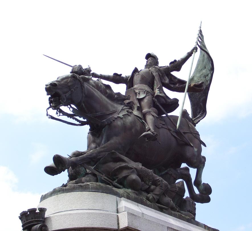 "1893, Bronze, Entwurf von Jules Roulleau.<br> Quelle: <a href=""https://commons.wikimedia.org/wiki/File:Jeanne_darc_chinon.jpg"">User:Scooper / Wikimedia Commons</a> <br>Lizenz: Gemeinfrei"