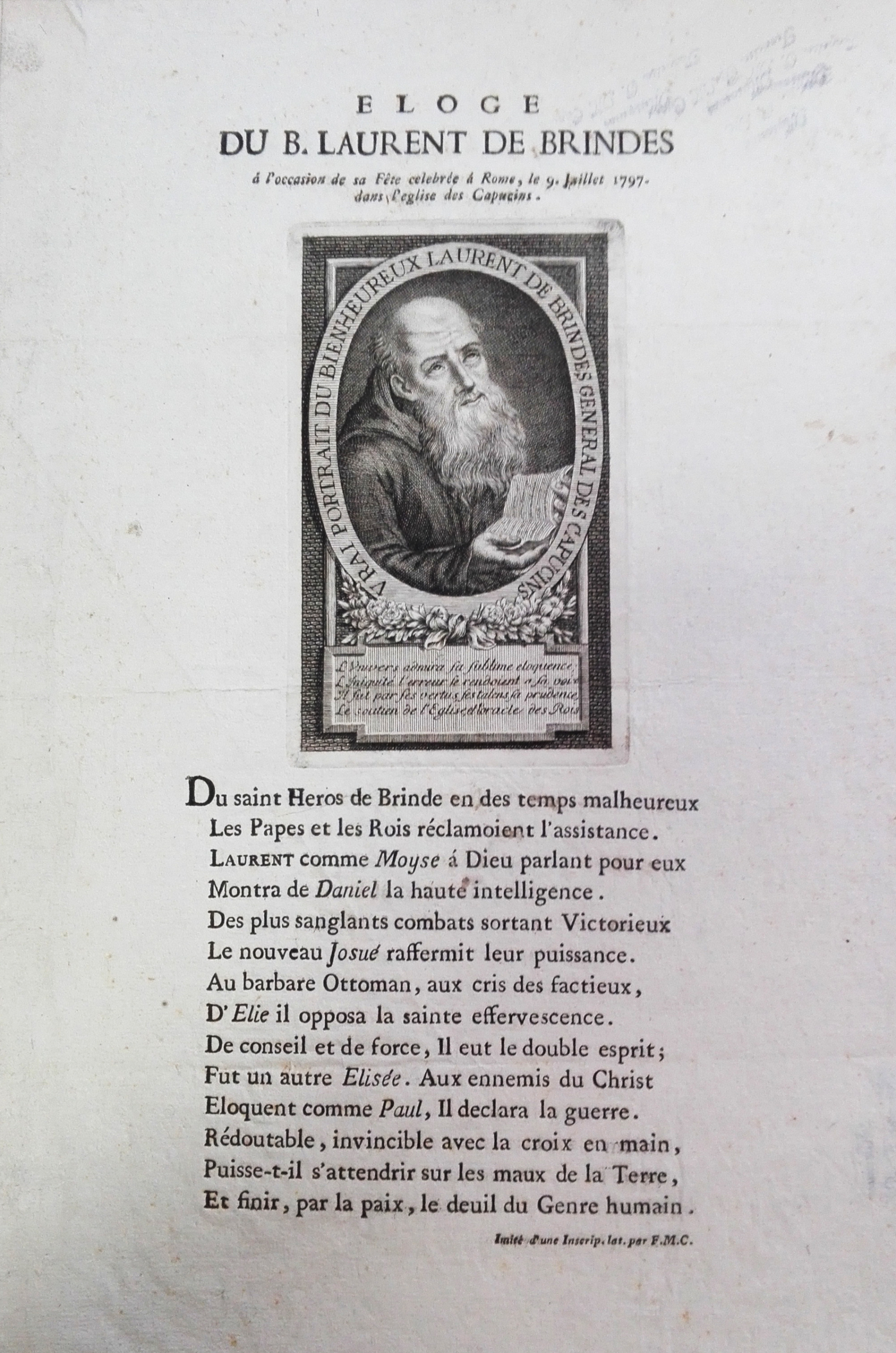 """""""Eloge für den seligen Laurentius von Brindisi"""""""