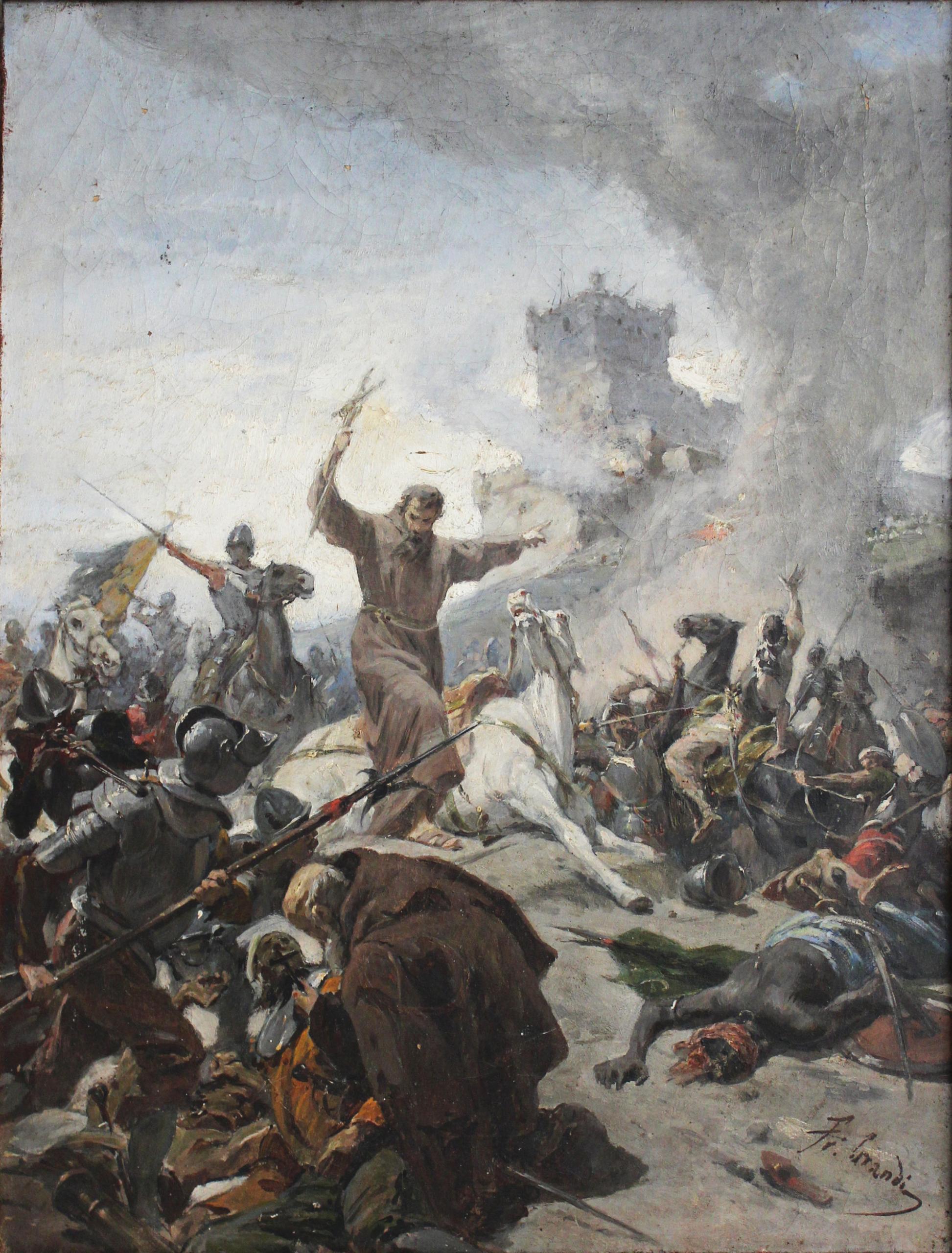 """Francesco Grandi: """"Laurentius von Brindisi bei der Schlacht von Stuhlweißenburg"""""""