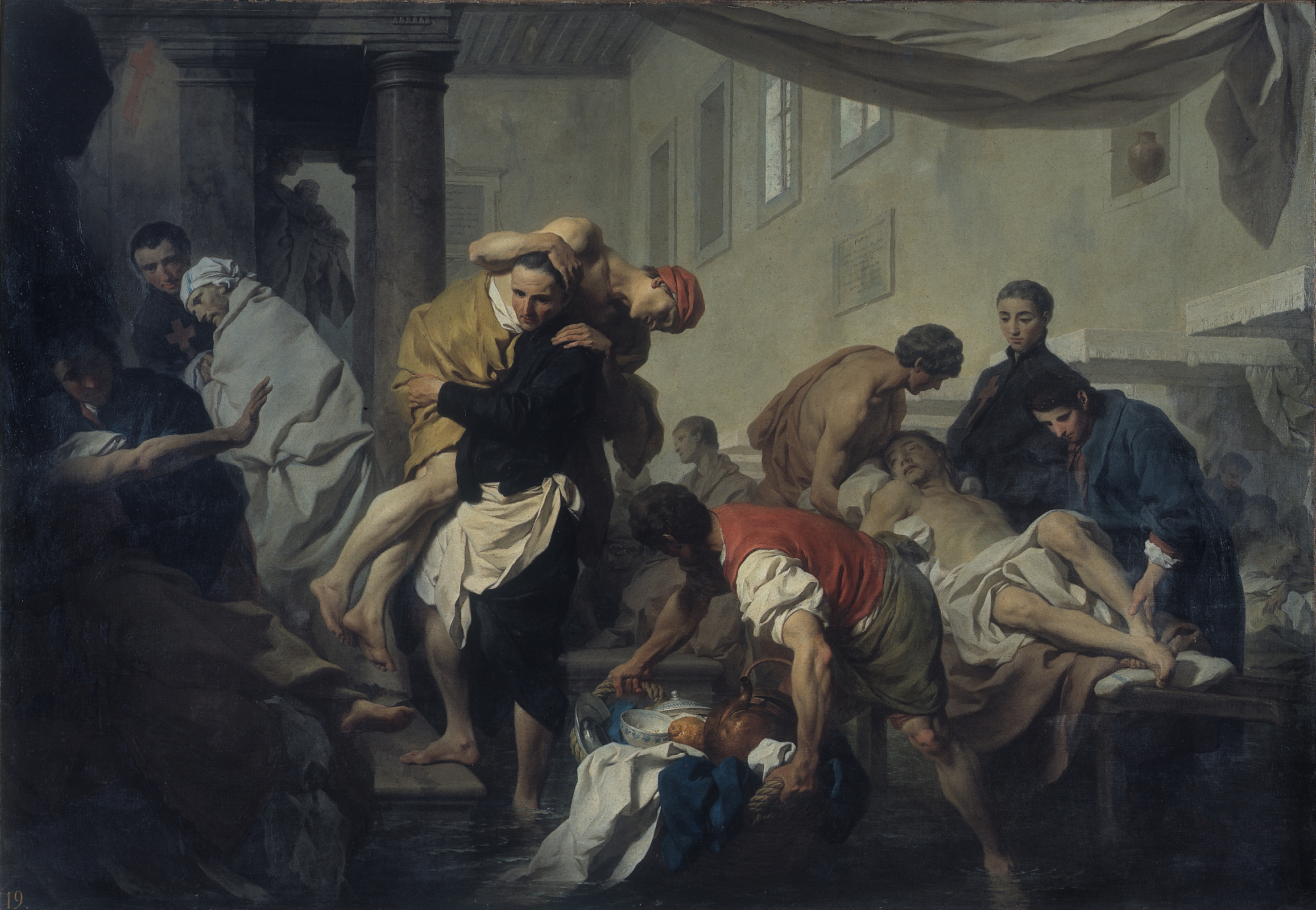 """Pierre Subleyras: """"Der hl. Kamillus rettet Kranke vor dem Tiberhochwasser"""""""