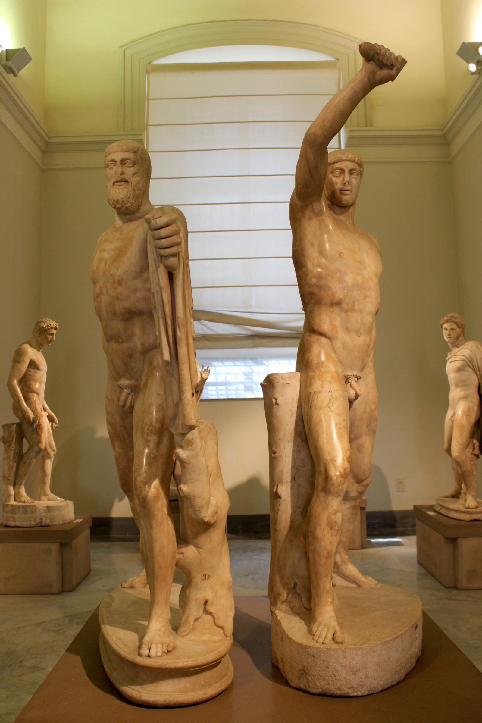 Statuen der Tyrannenmörder Harmodios und Aristogeiton