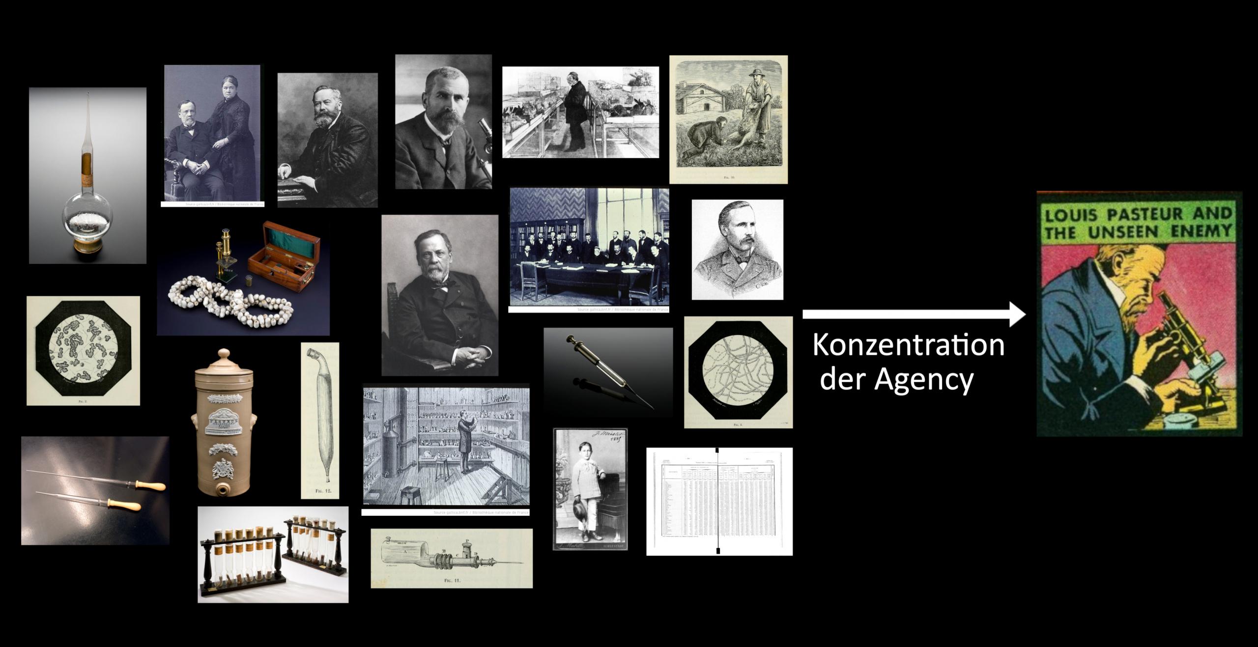 Das Akteur-Netzwerk wird auf Pasteur konzentriert.