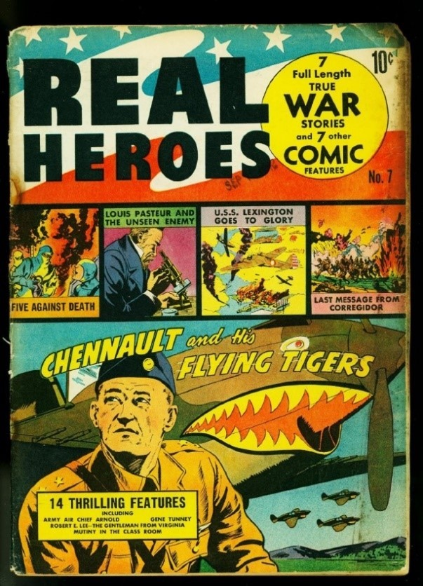 Titelblatt von Real Heroes, Nr. 7, November 1942.<br> Lizenz: Zitat nach § 51 UrhG