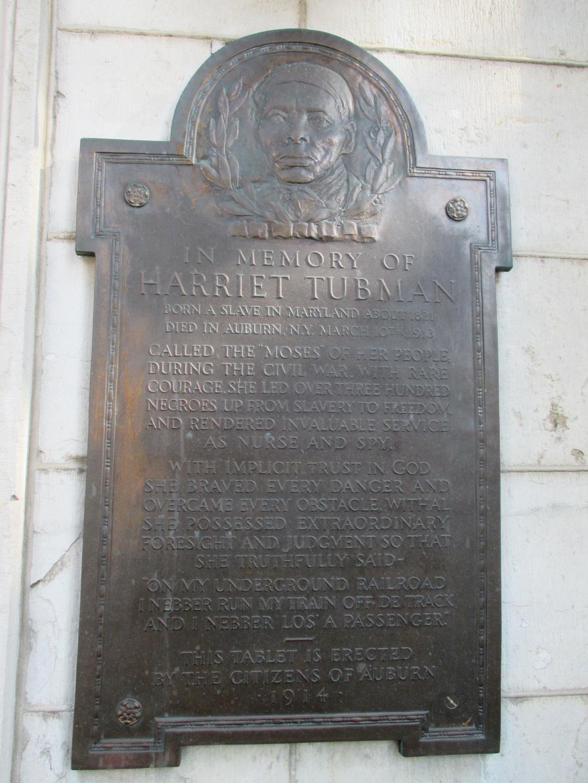 Gedenktafel für Harriet Tubman, Auburn 1914.