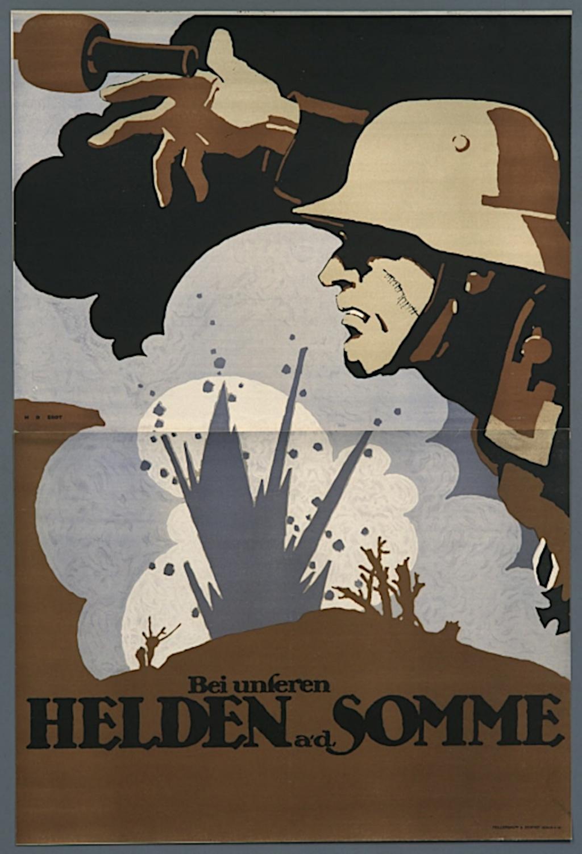 """Plakat für den Propagandafilm """"Bei unseren Helden an der Somme"""""""