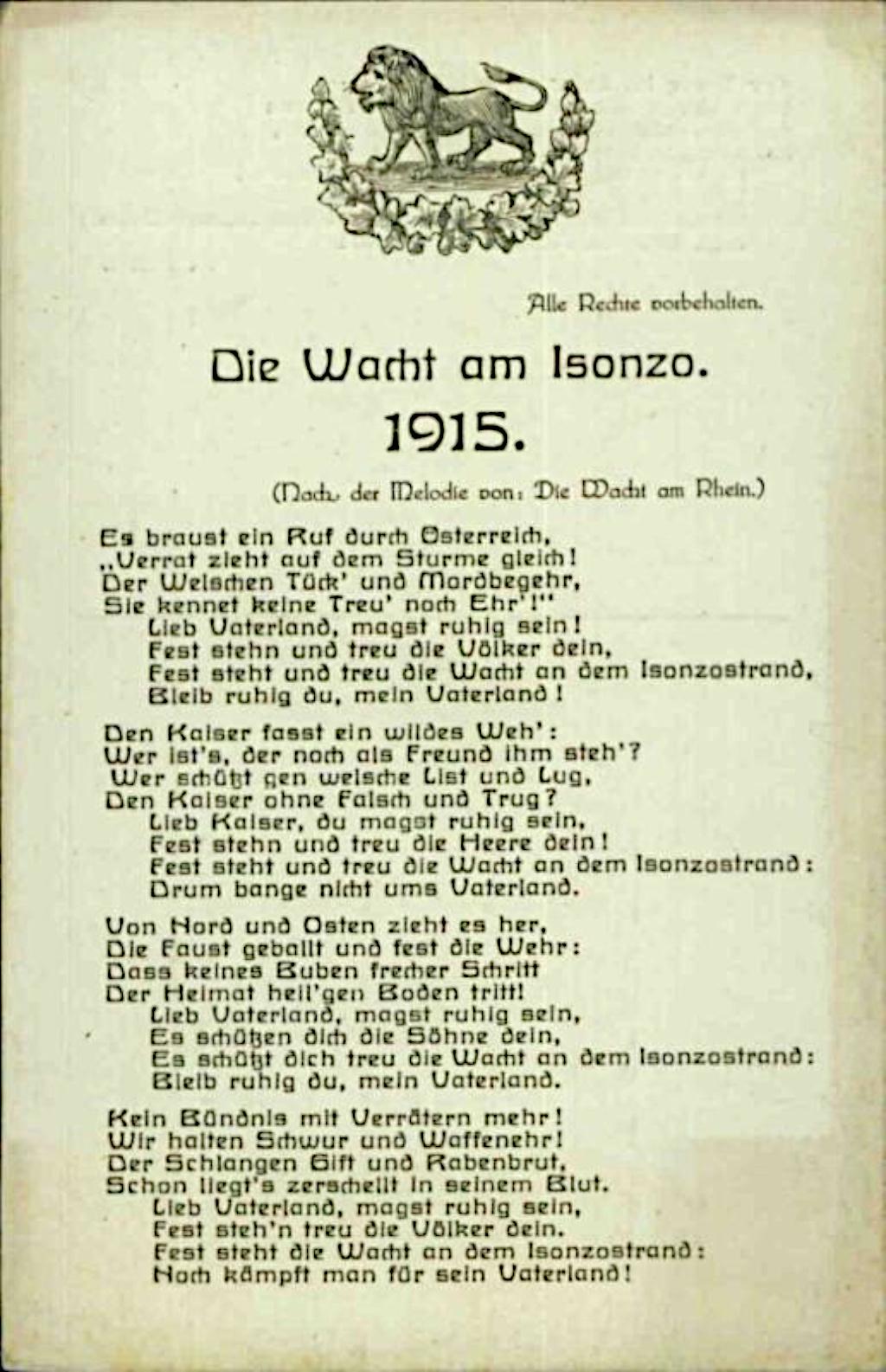 """1915, Postkarte. <br/>Quelle: <a href=""""https://onb.digital//result/10CB4307"""">Österreichische Nationalbibliothek</a> <br/>Lizenz: <a href=""""https://www.onb.ac.at/nutzung"""">Nutzung erlaubt</a>"""