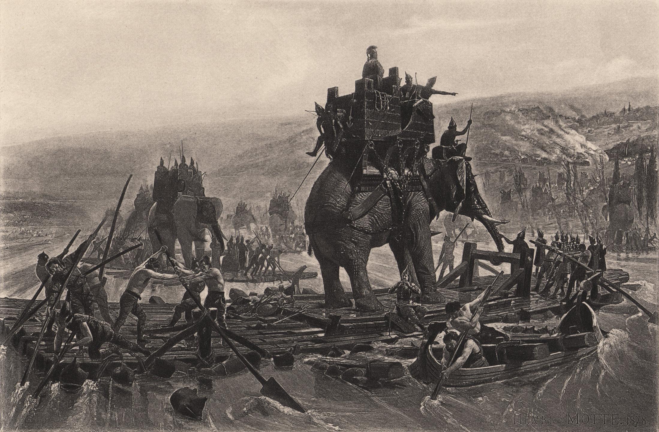 Henri-Paul Motte: Traversée du Rhône par Hannibal Barca