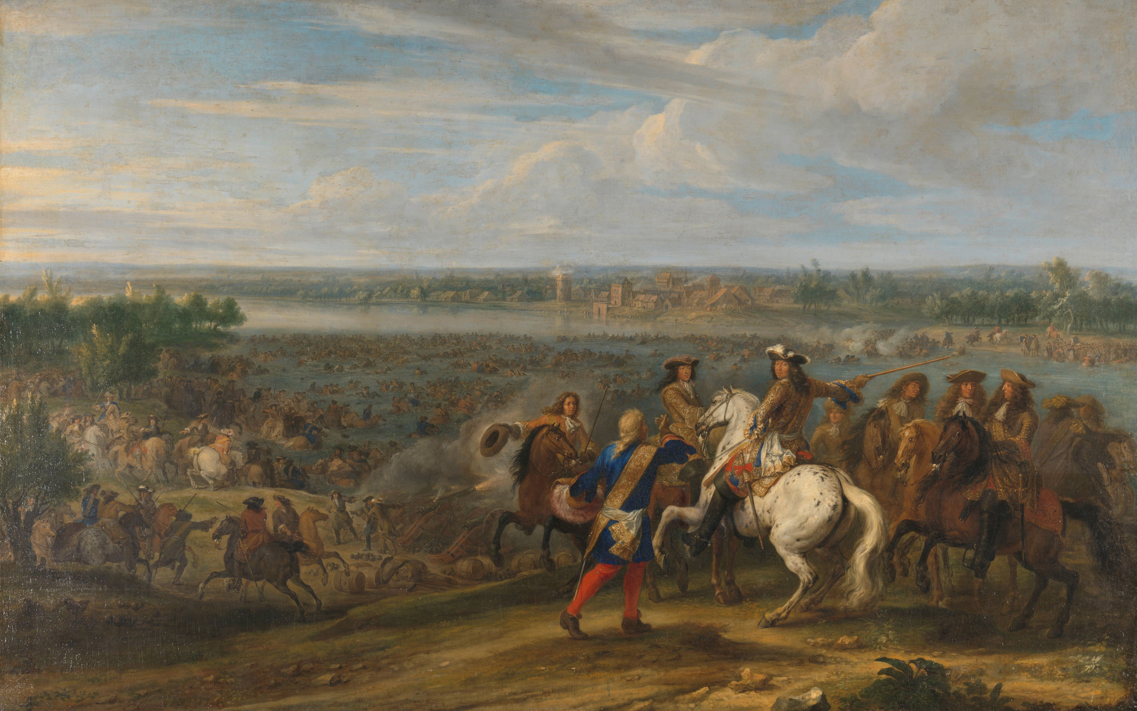 Adam Frans van der Meulen: Ludwig XIV. überquert den Rhein bei Lobith