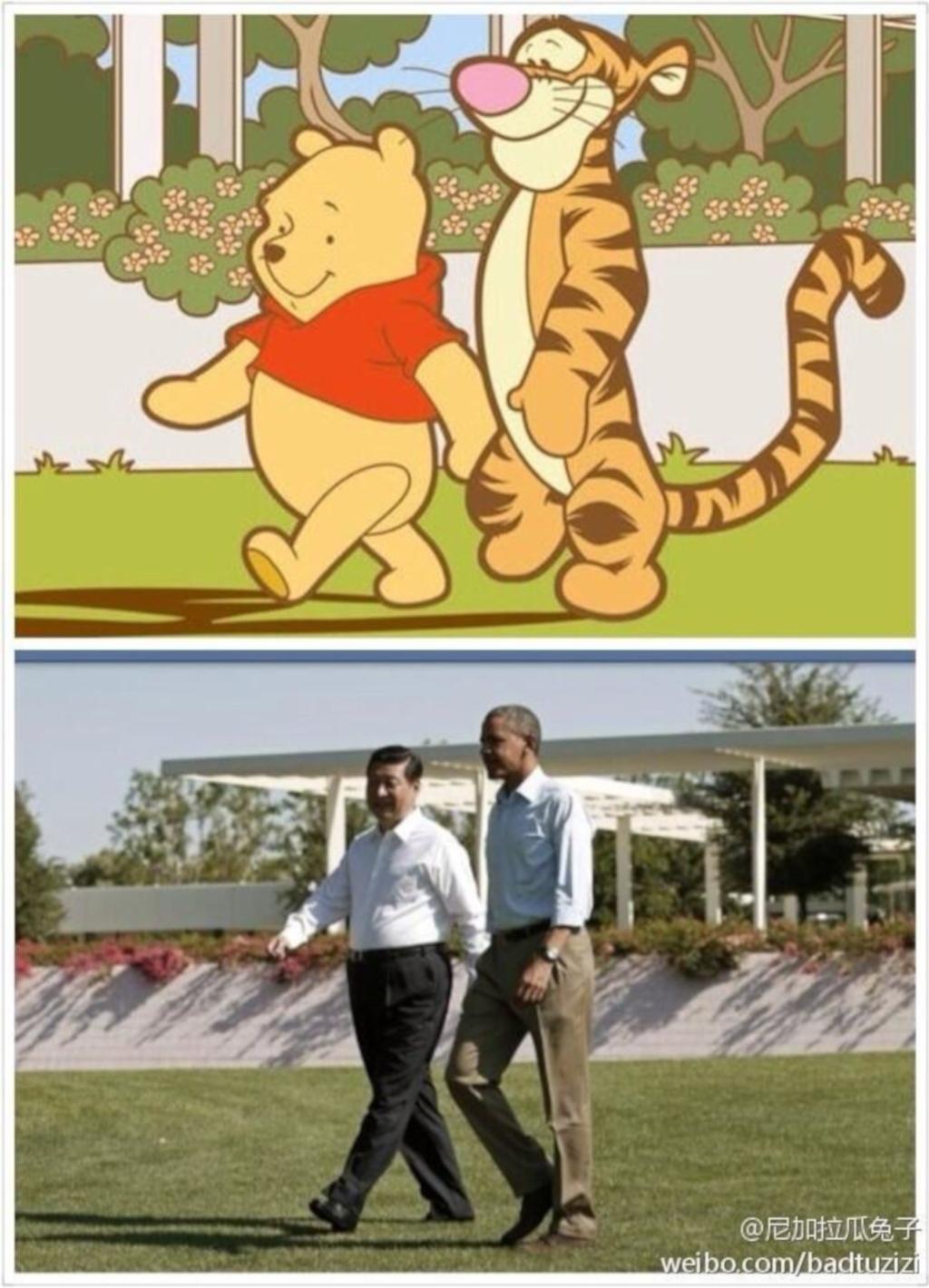 Xi Jinping und Barack Obama 'präfiguriert' durch Winnie the Pooh und Tigger